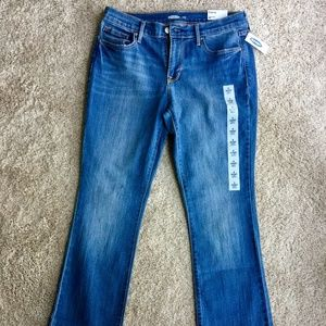 Women's OLD NAVY CURVY Boot Cut Jeans Size 8 Long